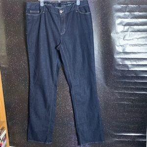 Eddie Bauer-Curvy Slim Straight Leg Jeans size 16T